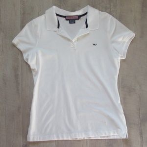 Vineyard Vines White Susie Fit Polo Size Large